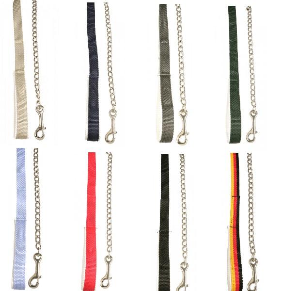 Führleine mit Karabinerhaken & silberfarbener Kette - Qualität von PFIFF