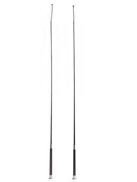 Dressurgerte mit Ledergriff & Chrompilzkopf 110-130cm - Qualität von PFIFF