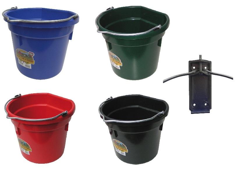 Flachrückeneimer aus Kunststoff 20L & Befestigung - Qualität von HORIZONT