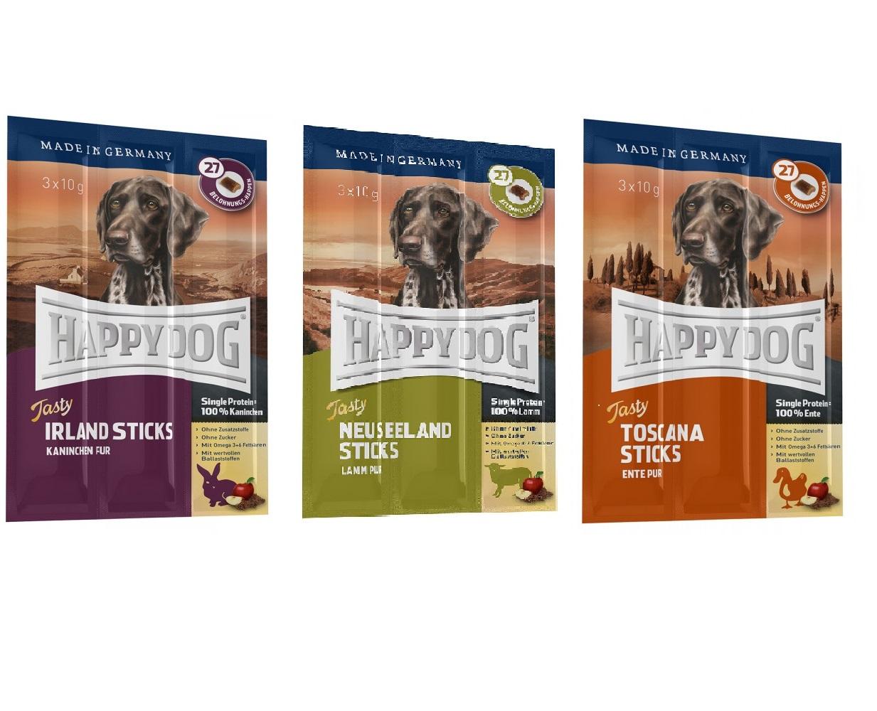 """Happy Dog Stick """"TOSKANA"""" """"IRLAND"""" """"NEUSEELAND"""" - Qualität von PFIFF"""