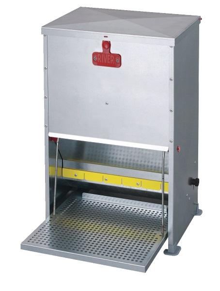 Futterautomat mit Trittklappe für Hühner 28 Liter - Qualität von HORIZONT
