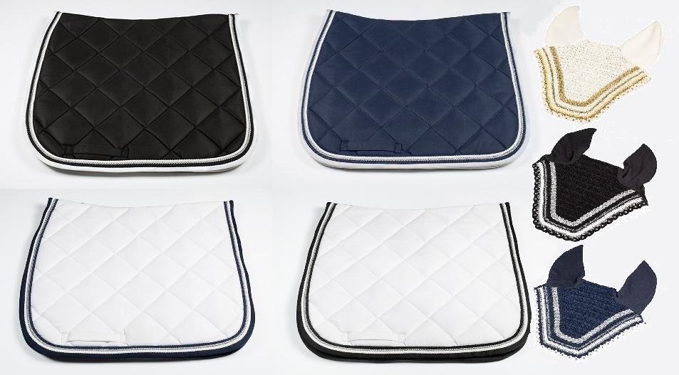 Dressur-Schabracke mit 3 Kordeln * passende Fliegenhaube - Qualität von PFIFF
